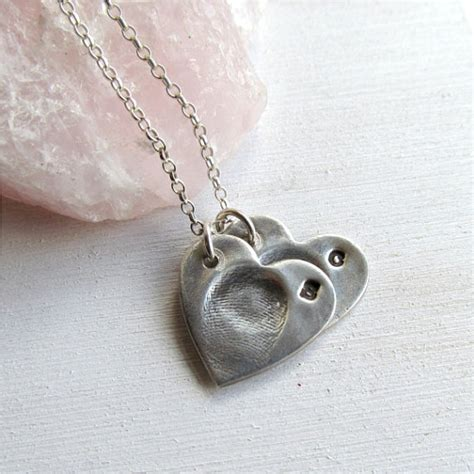 how to make thumbprint jewelry fingerprint necklace fingerprint jewelry two by