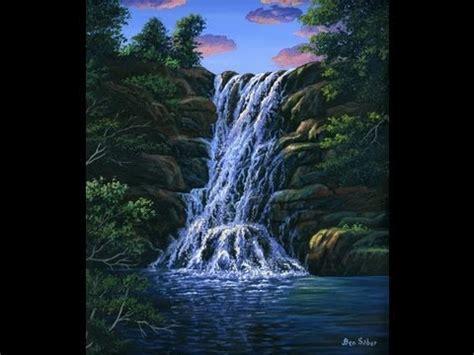 bob ross painting demo wie malt einen wasserfall und einen nat 252 rlichen pool