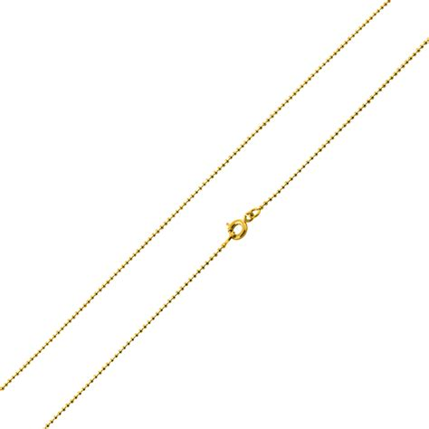 gold bead chain gold plated 24 quot bead chain necklace 1 20mm