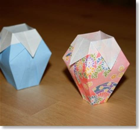 simple origami vase le vase senbazuru vid 233 os pour apprendre l origami