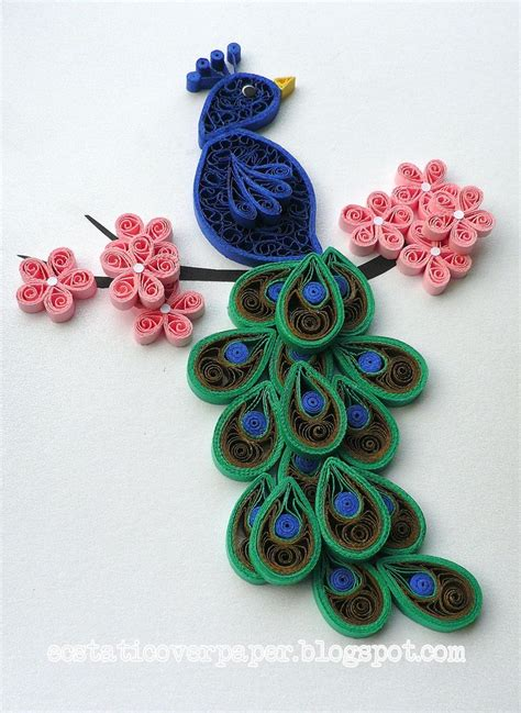 paper quilling craft peacock crafts quilling beautiful