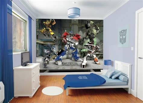 transformers bedroom tapeta 3d walltastic transformers dla dzieci multicotton