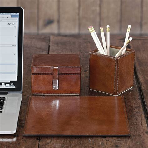 leather desk set leather desk set small by of