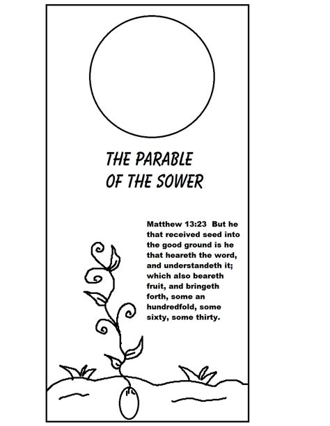 parable of the sower crafts for parable of the sower doorknob hanger
