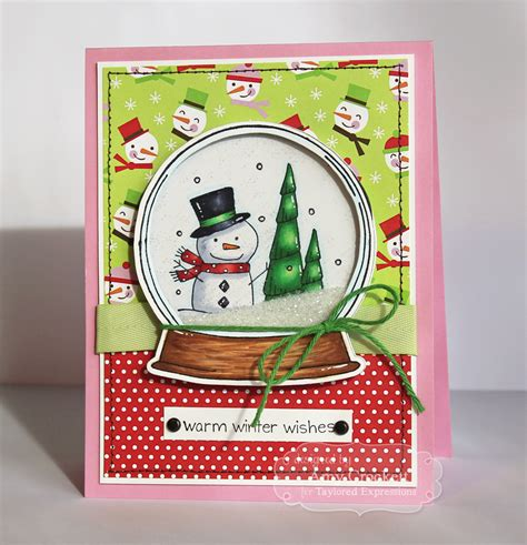 how to make a snow globe card scrapping winter snow globe shaker card