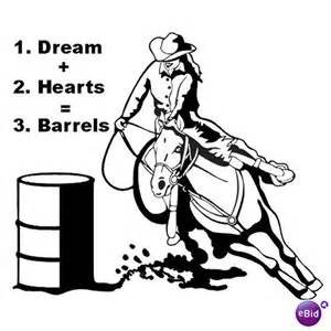 free coloring pages of barrel racing