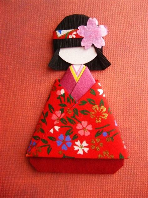 origami paper doll japanese origami paper doll mei