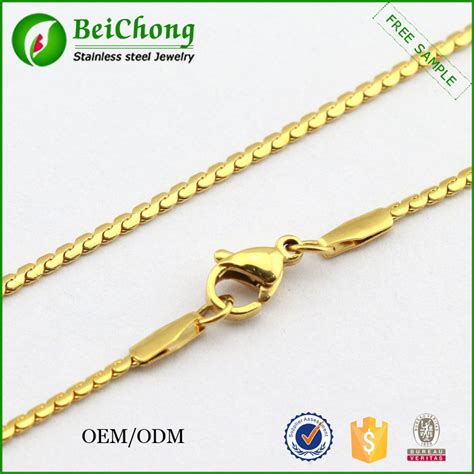 gold chain with black model model for fashion stainless steel gold chain