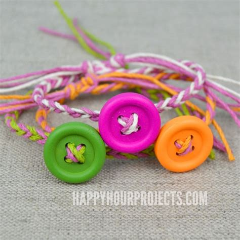 easy friendship crafts for easy diy button friendship bracelets happy hour projects