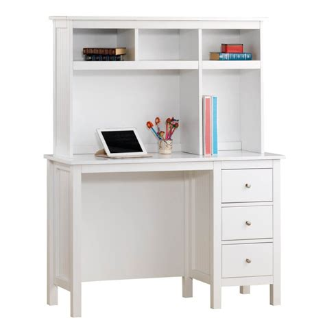 a white desk lilydale study desk w hutch drawers in white buy