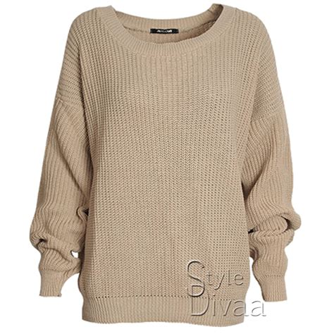 chunky knit jumper womens oversized baggy jumper knitted womens sweater