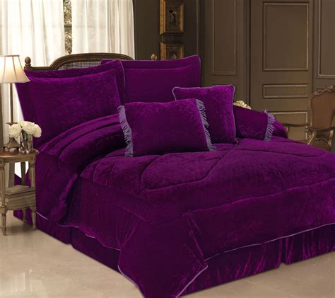 velvet comforter set 5pcs purple velvet bedding comforter set ebay