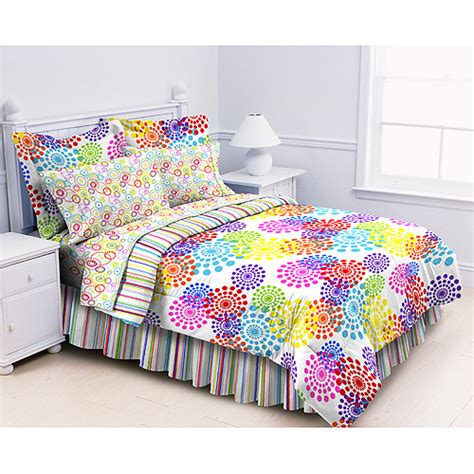 multi colored comforter sets prism multi bed in a bag rainbow colored comforter set