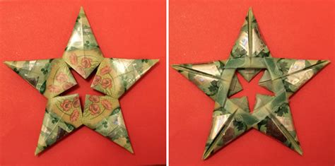 origami paper canada modular money origami from 5 bills how to fold step