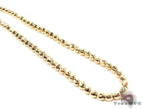 14k gold bead chain 14k gold bead chain 24 inches 4mm mens gold yellow gold 14k