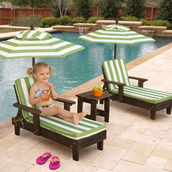 outdoor furniture for children costco kidkraft outdoor youth chaise lounger set oh my