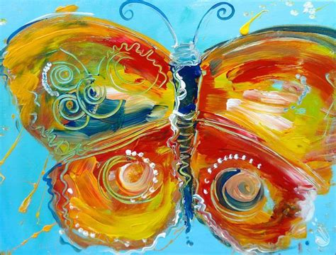 painting with a twist locations plano vintage butterfly impasto sunday may 22 2016
