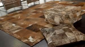 tapis en peaux de vache patchwork tapis haut de gamme