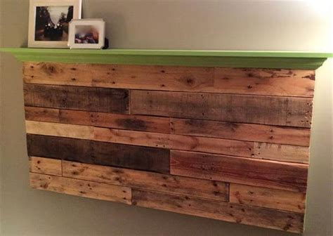 diy headboards with shelves pallet wall headboard with shelf pallet furniture diy