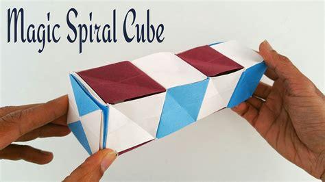 origami magic trick magic spiral cube diy modular origami tutorial by paper