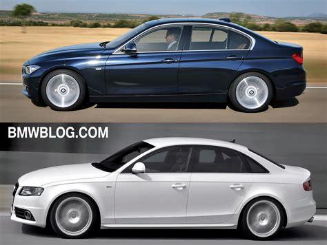 Bmw 3 Series Vs Audi A4 by Photo Comparison Audi A4 Vs 2012 Bmw 3 Series