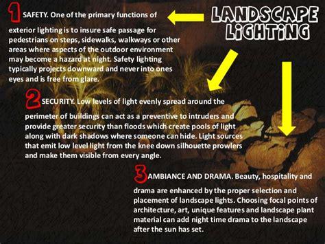 landscape lighting ppt landscape lighting