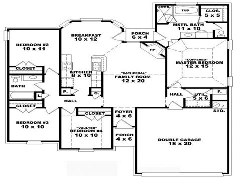 4 story house plans 9 bedroom one story 4 bedroom one story house plans one bedroom one bath house plans