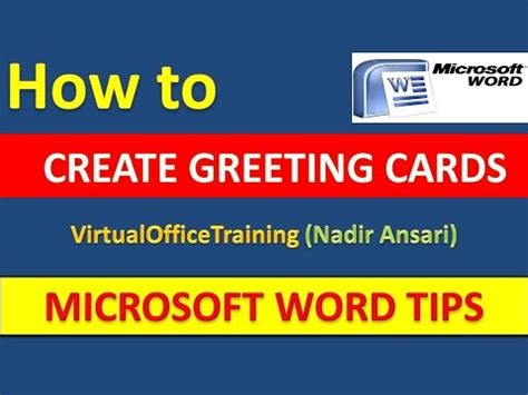 how to make birthday cards on microsoft word word tips and tricks how to create greeting cards in