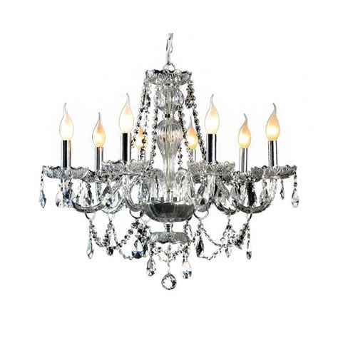 chrome and chandeliers decor living 8 light and chrome chandelier 104993