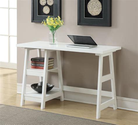 home office desks for small spaces convenience concepts white trestle desk