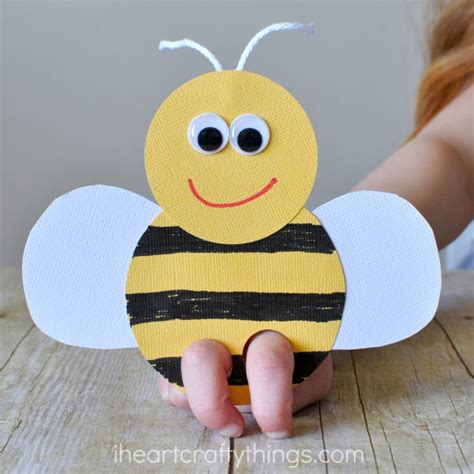 bee crafts for incredibly bee finger puppets craft i crafty