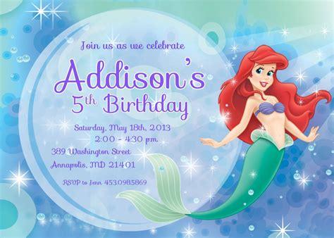 9 best images of free mermaid printable invitation