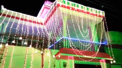 home lights decoration on wedding ceremony