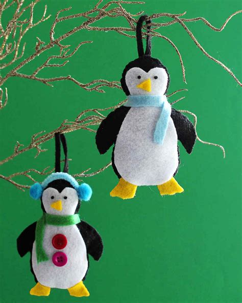 and crafts for ornaments make your own adorable felt penguin ornaments for the holidays