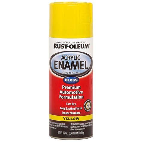 home depot spray paint yellow rust oleum automotive 12 oz yellow gloss acrylic enamel