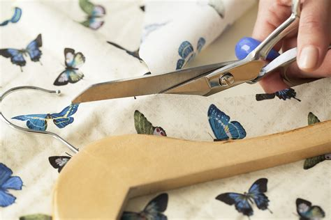 how to decoupage fabric on wood fabric decoupaged coat hangers maker crate