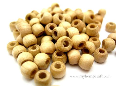 wooden beadings wood 100pc small wooden 5x6mm