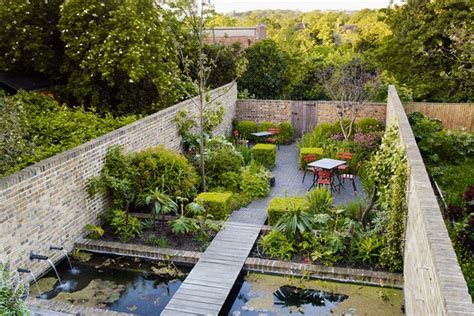 building a walled garden walled garden pond outdoor seating small garden ideas