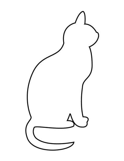 cat easy free coloring pages