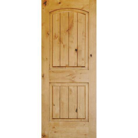 prehung solid wood interior doors krosswood doors 32 in x 96 in knotty alder 2 panel top