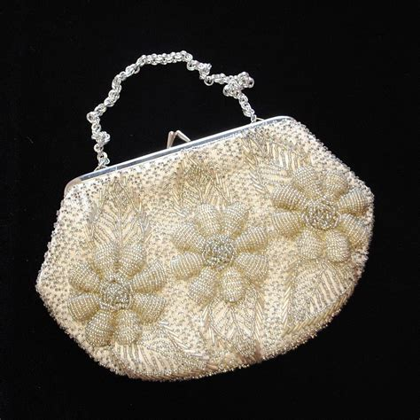 beaded evening bags vintage gold and beaded evening bag by iamia