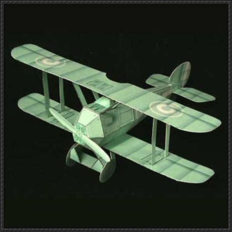 origami biplane wwi ghost biplane fighter free aircraft paper model