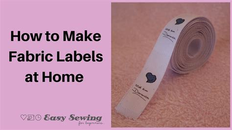 how to make fabric how to make fabric labels tutorial easy sewing for