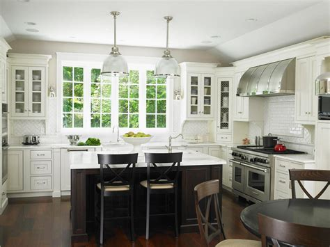 Kitchen White Backsplash staining kitchen cabinets pictures ideas amp tips from