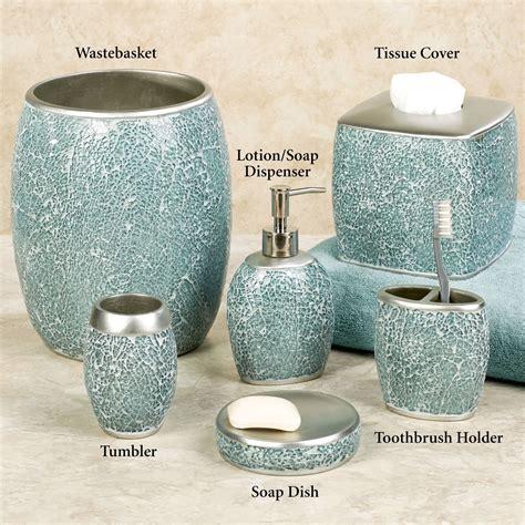 mosaic bathroom accessories calm waters light aqua mosaic bath accessories