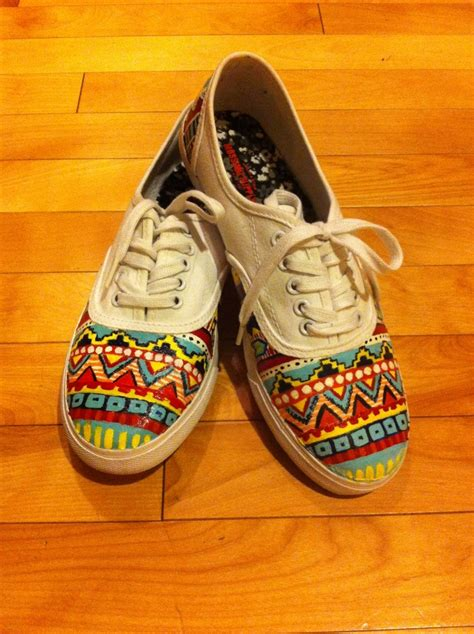 shoebox crafts for custom aztec painted shoes by hiltoncustomdesigns on etsy