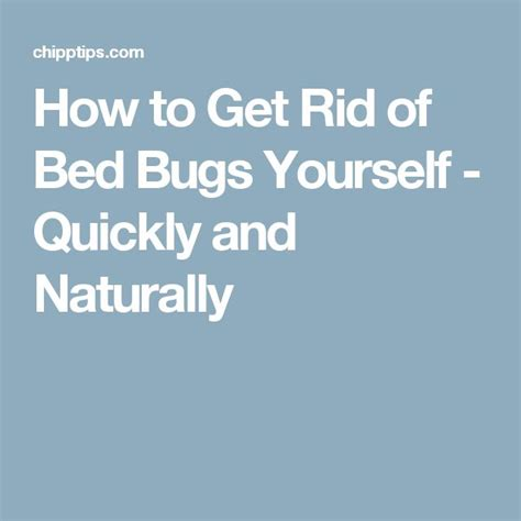Get Rid Of Bed Bugs Fast by Get Rid Of Bed Bugs For Fast And Easy Yourself