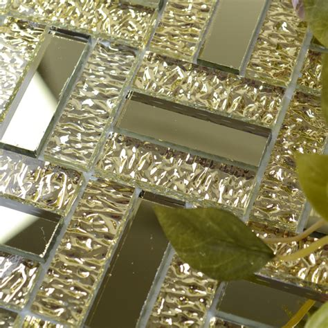 gold glass tile backsplash gold glass mirror tile backsplash bathroom mirrored mosaic
