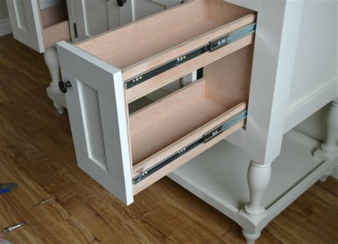 how to make pull out drawers in kitchen cabinets white pull out drawers diy projects