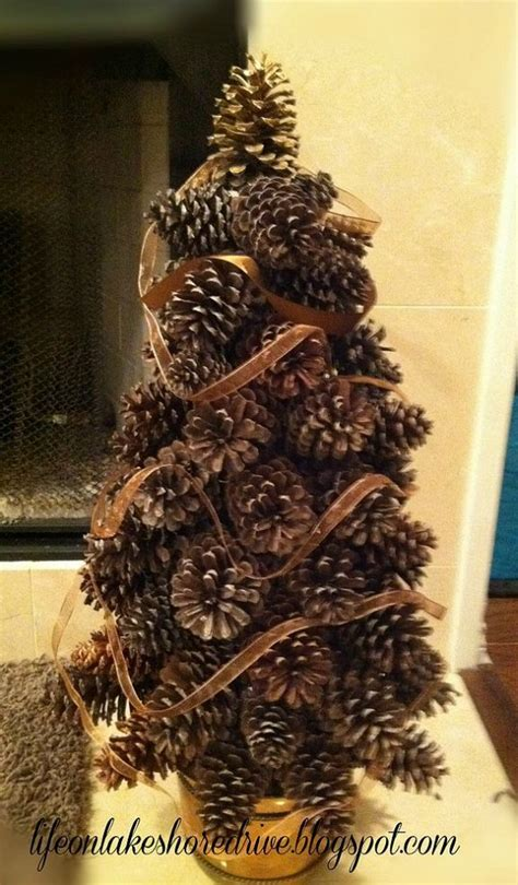pine cone tree craft project pine cone crafts kathy on lakeshore drive s